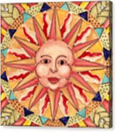 Ceramic Sun Acrylic Print by Anna Skaradzinska