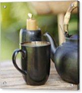 Ceramic Tea Set Acrylic Print
