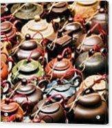Ceramic Teapots Acrylic Print