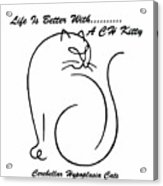 Cerebellar Hypoplasia Awareness Acrylic Print