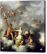 Ceres Bacchus Venus And Cupid  Acrylic Print