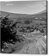 Cerro De La Cruz Bnw I Acrylic Print