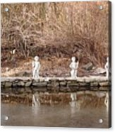 Cerubs On Icy Pond Acrylic Print
