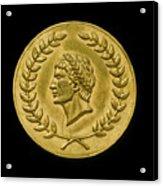 Julius Cesar Roman Coin Acrylic Print