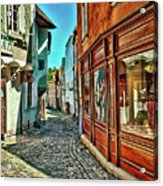 Cesky Krumlov Alley Acrylic Print