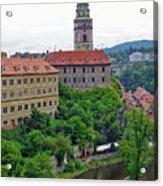 Cesky Krumlov Castle Complex In The Czech Republic Acrylic Print