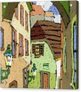 Cesky Krumlov Masna Street Acrylic Print