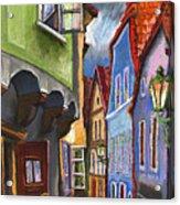 Cesky Krumlov Old Street 1 Acrylic Print