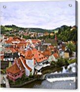 Cesky Krumlov Overview 2 Acrylic Print