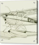 Cessna 180h On Floats Acrylic Print