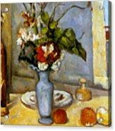 Cezanne: Blue Vase, 1885-87 Acrylic Print