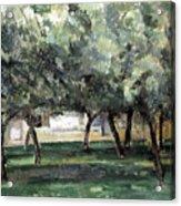 Cezanne: Le Clos Normand Acrylic Print