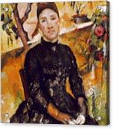 Cezanne: Mme Cezanne, 1890 Acrylic Print