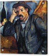 Cezanne: Pipe Smoker, 1900 Acrylic Print