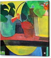 Cezanne Potting Stand Acrylic Print by Betty Pieper