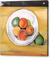 Cezannes Fruit Bowl Acrylic Print