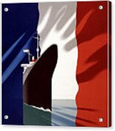C.g. Transatlantique Vintage Travel Poster Acrylic Print