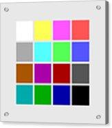 Cga Colors Acrylic Print
