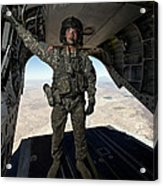 Ch-47 Chinook Crew Chief Stands Acrylic Print