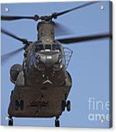 Ch-47 Chinook Flies Over Playas Acrylic Print