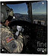 Ch-47 Chinook Pilot Refers Acrylic Print