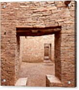 Chaco Canyon Doorways 2 Acrylic Print