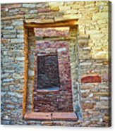 Chaco Canyon Windows Acrylic Print