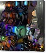Chain And Sprockets - Amcg -  Macro 14 30 X 20 Acrylic Print