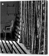 Chain Barrier Acrylic Print