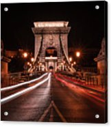 Chain Bridge At Midnight Acrylic Print