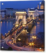 Chain Bridge At Night Acrylic Print