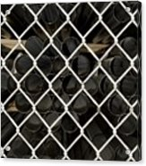 Chain Link Pipe Acrylic Print