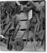 Chain Pallet Bw Acrylic Print
