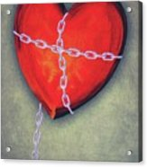Chained Heart Acrylic Print by Jeff Kolker