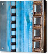 Chains And Blue Wood Acrylic Print