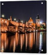 Chains Bridge In Prague Acrylic Print
