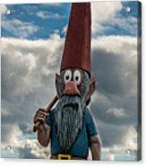 Chainsaw Art Gnome Acrylic Print