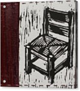 Chair I Acrylic Print by Peter Allan