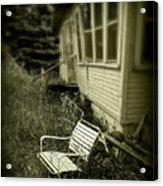 Chair In Grass Acrylic Print