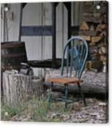 Chair In The Shed Acrylic Print