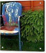 Chair Of Many Colors Acrylic Print