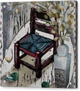 Chair X Acrylic Print by Peter Allan