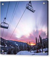 Chairlift Sunset Acrylic Print