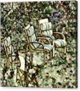 Chairs In Backyard Acrylic Print