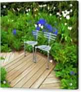 Chairs In The Garden Acrylic Print
