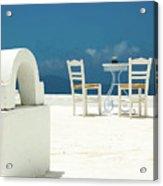 Chairs Of Santorini Acrylic Print