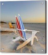 Chairs On The Beach Acrylic Print
