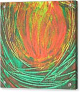 Chakra Protea Acrylic Print