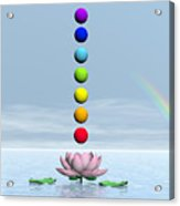 Chakras And Rainbow - 3d Render Acrylic Print