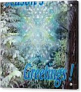 Chalice-tree Spirit In The Forest V3 Holiday Card Acrylic Print